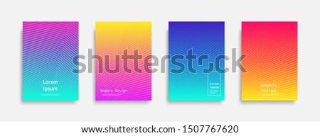 Minimal covers design. colorful line design. Future geometric patterns. Eps10 vector. #1507767620