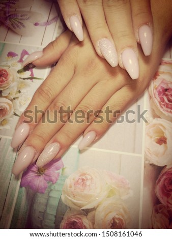 Womens hands with beautiful nails #1508161046