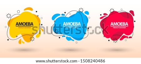 Modern set of abstract banners. Template ready for use in web or print design. Vector bright template banners. #1508240486