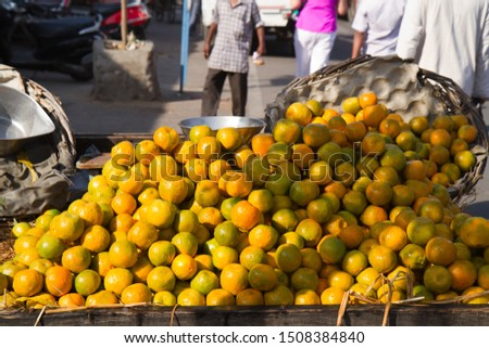 fruit retailer in the street of jaipur in india #1508384840