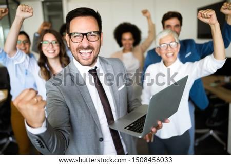 Succesful enterprenours and business people reach goals #1508456033