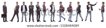 panoramic collage of a promising young man #1508484089