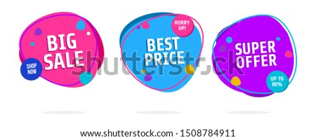 Discount price sale banners, price tags label. Special offer flat promotion sign. Flash sale special offer set and can use for instagram, facebook, and social media other #1508784911