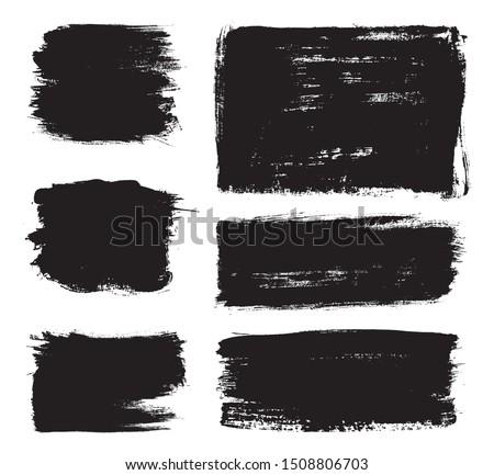 Black paint stripes. Vector grunge brush strokes. #1508806703