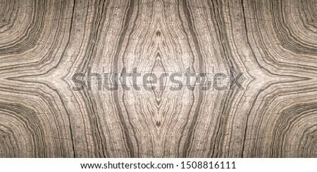 Book match marble with brown grey black color, natural symmetry black ,white and brown oblique lines marble use for architecture exterior and interior design background, copy space for adding text.