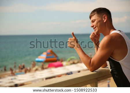 Guy. Man. Model. sea, beach, hotel, resort, Male. Sexy, sexually, hotel, resort. swimming pool. Health. Body, abs, chest, torso, fitness model, manly, brutal, hotel, Muscular, power,   Summer #1508922533
