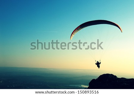 paragliding Royalty-Free Stock Photo #150893516