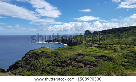 coastline of the north shore of Maui, Hawaii Royalty-Free Stock Photo #1508990330