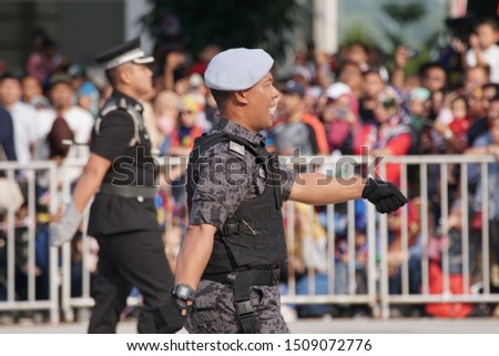 Putrajaya, Malaysia – August 31, 2019: Merdeka Day celebration is a colourful event and is held in commemoration of Malaysia's Independence Day at Dataran Putrajaya. #1509072776