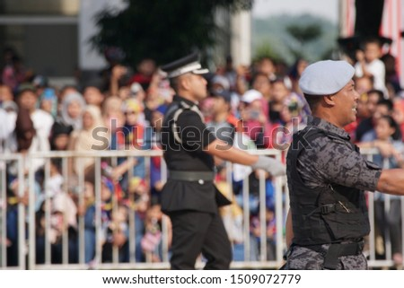 Putrajaya, Malaysia – August 31, 2019: Merdeka Day celebration is a colourful event and is held in commemoration of Malaysia's Independence Day at Dataran Putrajaya. #1509072779