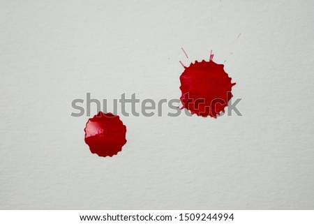 Blood splatters. Realistic bloody splatters for Halloween concept. #1509244994