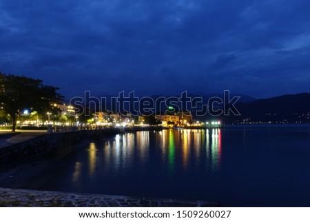 Illuminated Baveno Promenade at night #1509260027
