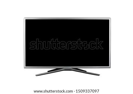 4K monitor or TV isolated on white background