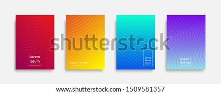 Minimal covers design. colorful line design. Future geometric patterns. Eps10 vector. #1509581357