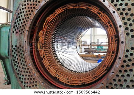 Large explosion-proof motor coil,  closeup of photo #1509586442