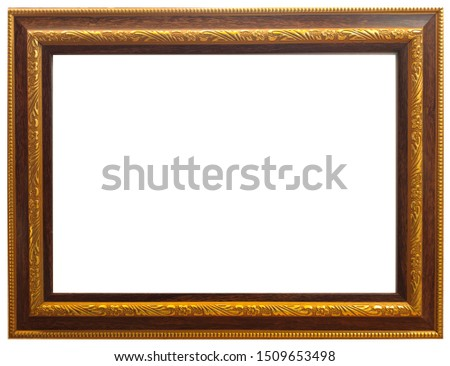 Louis Frame,View landscape photo art frame, so beautiful golden picture frames white background