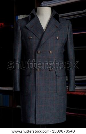 Elegance bespoke winter-coat on a mannequin. Men's Clothing. #1509878540