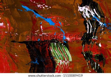 Colorful abstract painting background. Liquid marbling paint background. Fluid painting abstract texture. Intensive colorful mix of acrylic vibrant colors. Style incorporates the swirls of marble #1510089419