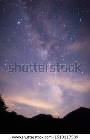 The Milky Way is a nebular cluster like a shining belt crossing the night sky. #1510117589