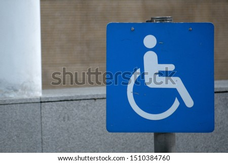 Wheelchair, handicapped or accessibility parking or access sign #1510384760