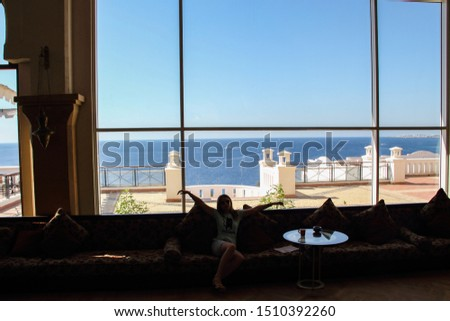 Sharm El Sheikh, Egypt, September 05, 2018. Hotel Continental Garden Reef Resort. Hall of a modern hotel. Tourists relax in the resort of the Red Sea. #1510392260