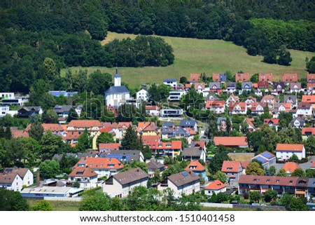 Kulmbach / Germany - 06.30.2018: View on the town of Kulmbach, Bavaria, region Upper Franconia, Germany #1510401458