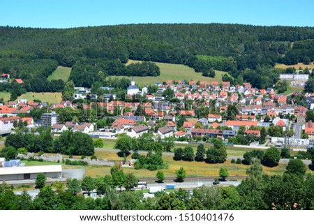 Kulmbach / Germany - 06.30.2018: View on the town of Kulmbach, Bavaria, region Upper Franconia, Germany #1510401476