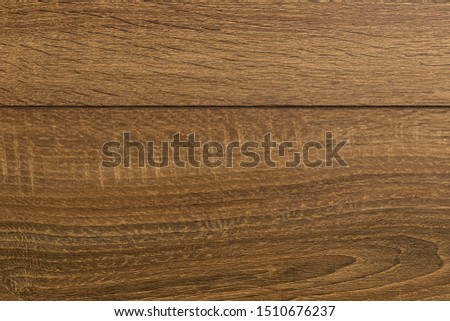 Close-up of dark brown laminate floor covering #1510676237