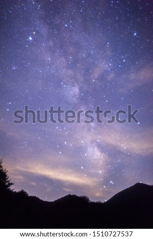 The Milky Way is a nebular cluster like a shining belt crossing the night sky. #1510727537