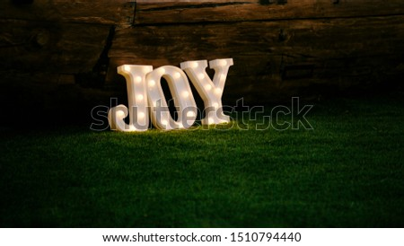 Joy sign background. Joy sign decoration outdoors. Happiness, joy concept #1510794440