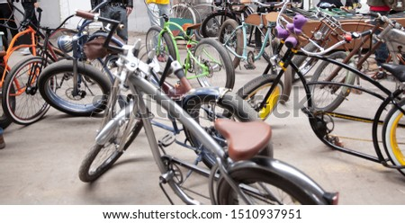 variety of bikes in the sports shop #1510937951