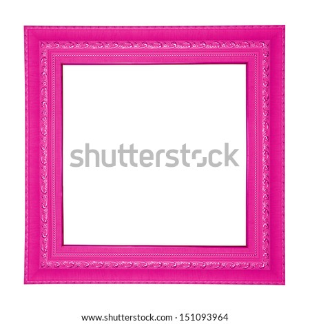 Pink colored square frame.