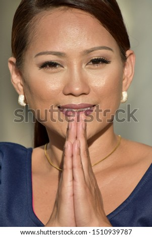A Praying and Youthful Female #1510939787