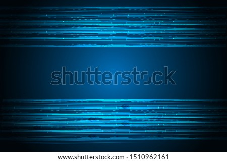 Vector concept. High speed system. Digital information technology. Future technology on modern blue background. #1510962161