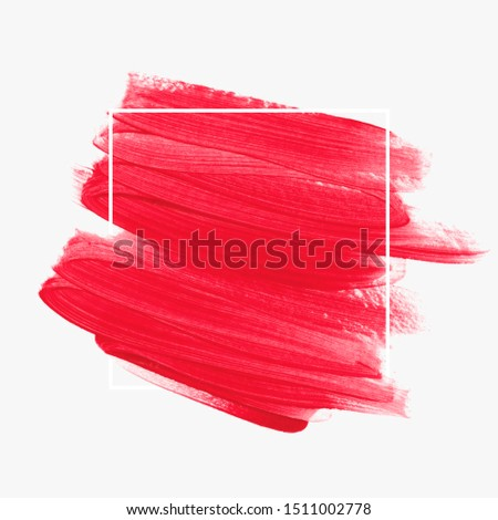 Brush painted watercolor background vector. Perfect design for logo and sale banner.  #1511002778