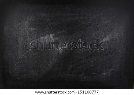 Chalk rubbed out on blackboard Royalty-Free Stock Photo #151100777