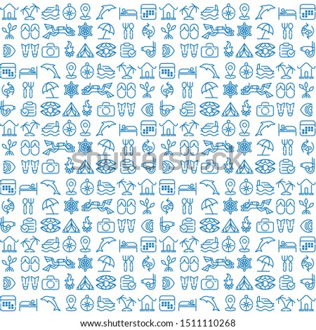 beach and sea traveling pattern icon Logo illustration. Summer Icons Set Outline Holiday, Tour and travel outline icon set vector. Simple Modern graphic flat design design concepts.  #1511110268