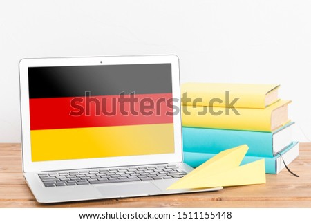 Flag of Germany on Laptop. Germany Flag on Screen. #1511155448