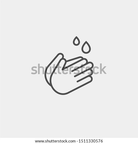 Hand wash flat vector icon. Clean hands flat vector icon