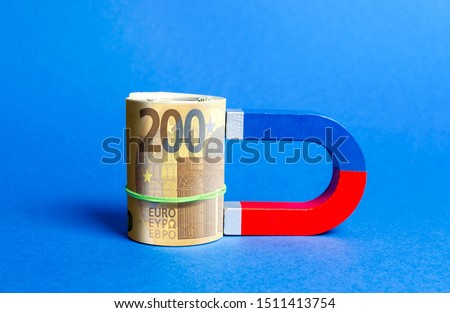 The magnet is magnetized to Euro bundle. Attracting money and investments for business purposes and startups. Increase profits and attract new customers. Salary, bonus, cashback. Business strategy. #1511413754