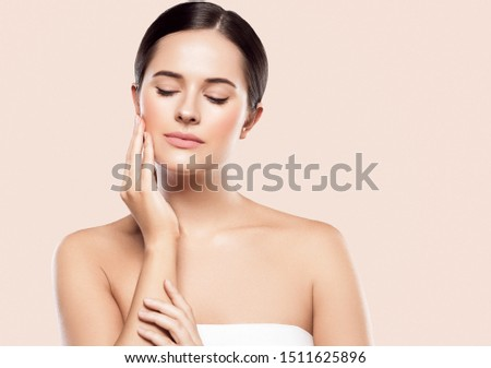 Beauty skin woman face cosmetic concept healthy skincare model portrait #1511625896