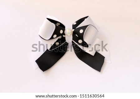 Pink bow tie bows for girls #1511630564