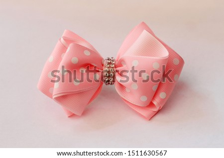 Pink bow tie bows for girls #1511630567