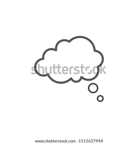 Think bubble icon isolated on white background. Vector illustration. Eps 10. #1511637944