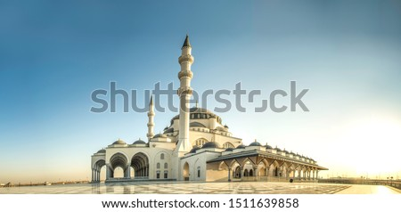 Sharjah Mosque panorama view Largest Mosque in United Arab Emirates Place to visit in Sharjah, 2020 Ramadan and Eid Concept Image, Best Travel and Tourist Spot in Dubai, Beautiful Mosque in the world #1511639858