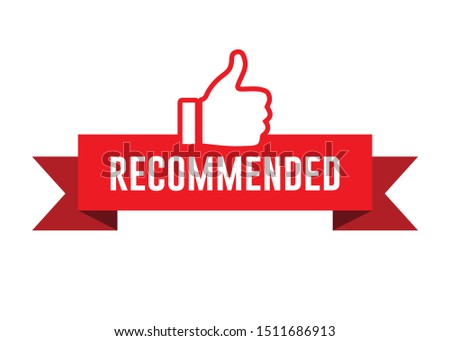 Recommended Label with Thumbs Up Icon, Vector Design #1511686913