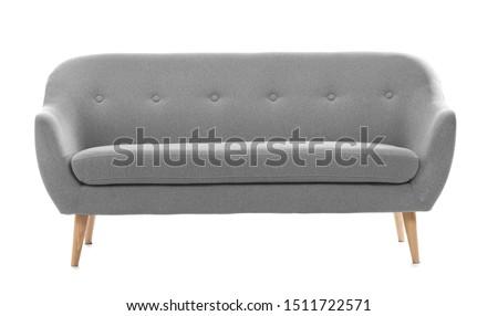 Comfortable sofa on white background #1511722571