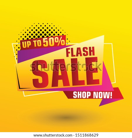 Flash Sale Design for business. Discount Banner Promotion Template. Flash Sale banner template design #1511868629