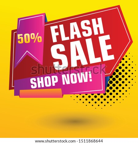 Flash Sale Design for business. Discount Banner Promotion Template. Flash Sale banner template design #1511868644