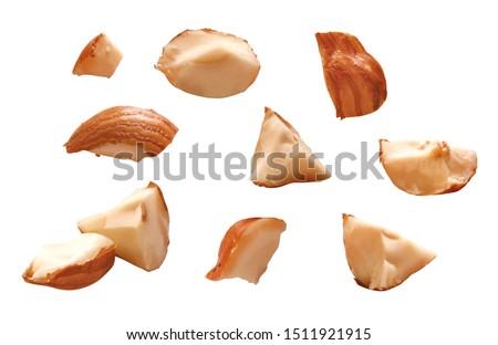 Fresh chopped pieces of hazelnut #1511921915